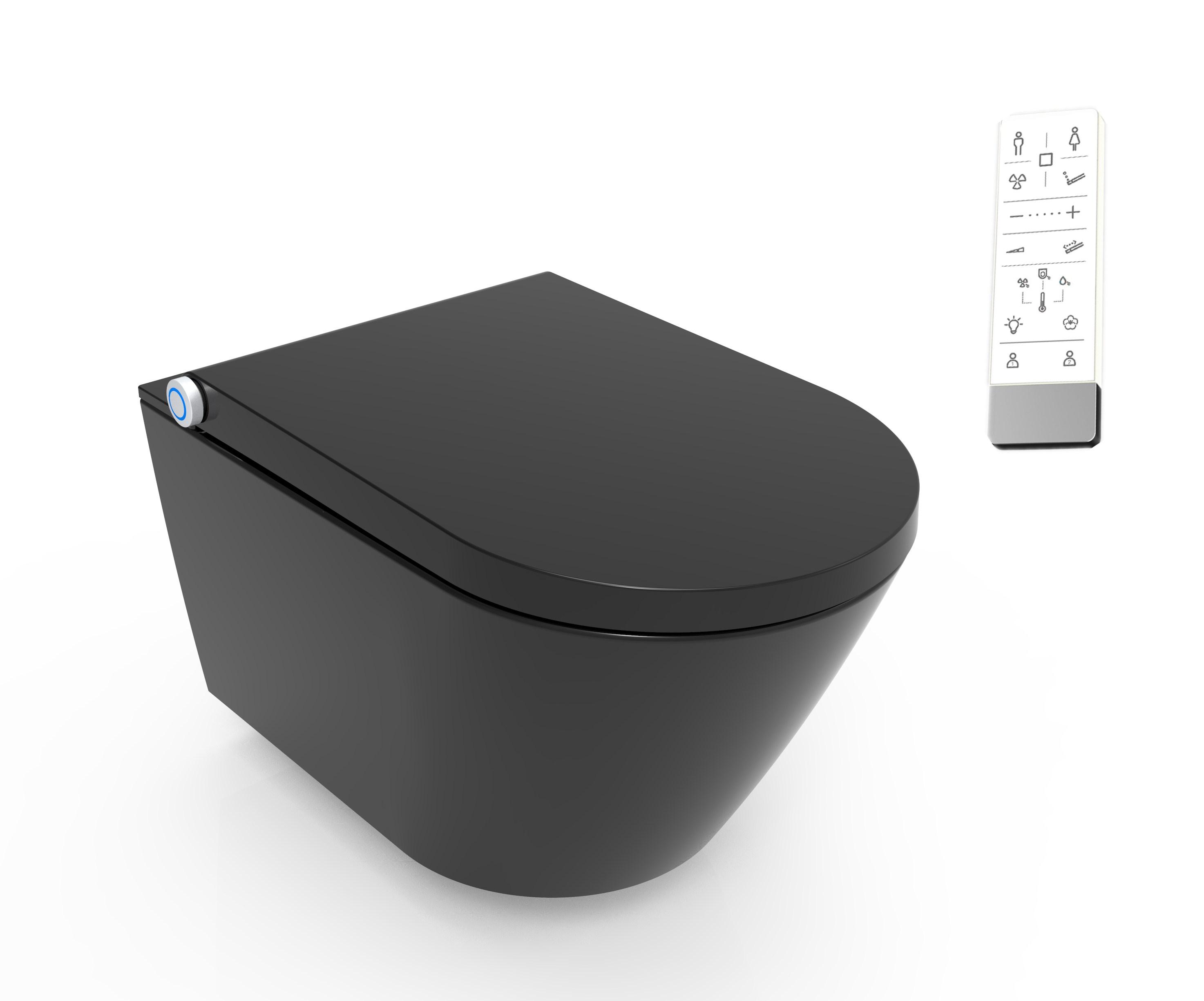 EASY-BID Pro fali okos WC - fekete